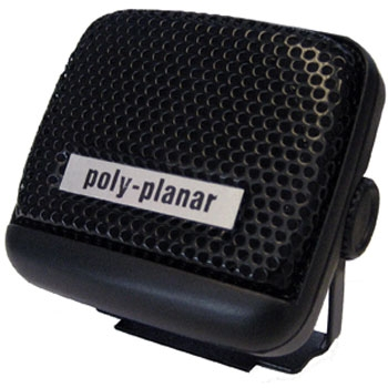 "Poly-Planar MB-21 2"" Black Waterproof VHF Speaker"